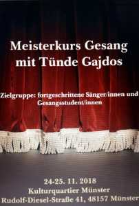 Meisterkurs Gesang 2018